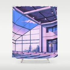 Vaporwave Pool of School Shower Curtain