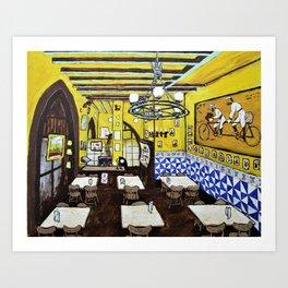 Els Quatre Gats by Mike Kraus - art Barcelona Spain España Picasso Europe Europa cafe restaurant Art Print