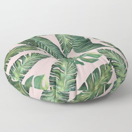 Jungle Leaves, Banana, Monstera Pink #society6 Floor Pillow