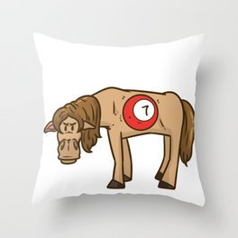 Billiard Cue Game Sport Funny Humor Gift Throw Pillow