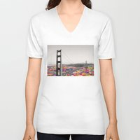 luna V-neck T-shirts featuring It's in the Water by Bianca Green