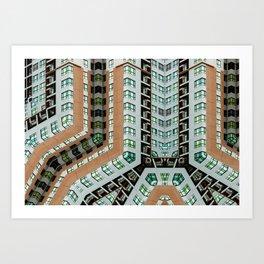 Graphic design futuristic residential Art Print
