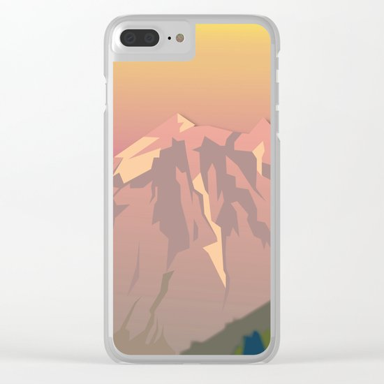 Night Mountains No. 47 Clear iPhone Case