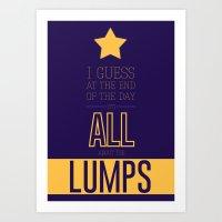 lumpy space princess Art Prints featuring Lumpy Space Princess by Rizwanb
