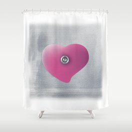Heart by Shower Curtain
