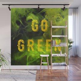 GO GREEN Wall Mural