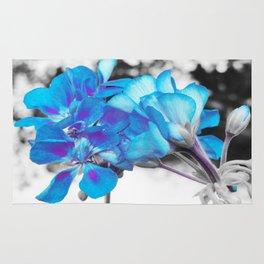 Turquoise Flowers Rug