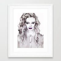 lorde Framed Art Prints featuring LORDE by Grace Carey-Gorey