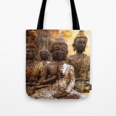 the 4 Buddhas Tote Bag