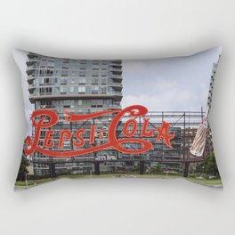 Cola sign at New York City Rectangular Pillow