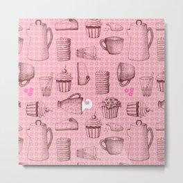 Breakfast - pattern Metal Print