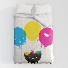 CMY piss K Comforters
