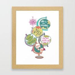 Globes, Living Our Adventure Framed Art Print