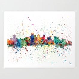 BostonSkyline Art Print