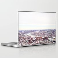 pittsburgh Laptop & iPad Skins featuring Ice Pittsburgh by clairemac