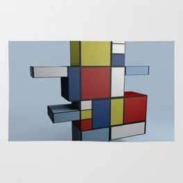 Composition with Red Blue and Yellow Rug
