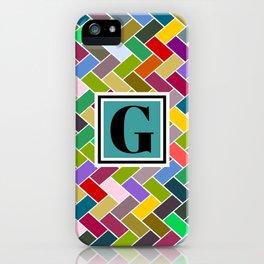 G Monogram iPhone Case