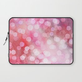 Strawberry Sunday - Pink Abstract Watercolor Dots Laptop Sleeve