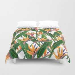 bird of paradise pattern Duvet Cover