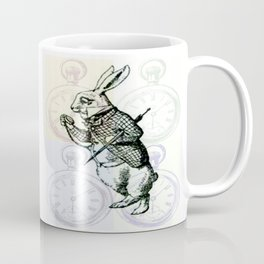 White Rabbit Time Coffee Mug
