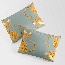 Leopard Race - blue Pillow Sham