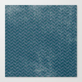 Vintage blue gray abstract geometric chevron pattern Canvas Print
