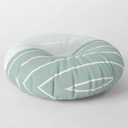 Two Tone Stripes - Sage Floor Pillow