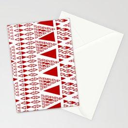 Zig Zag Pattern -  brick red Stationery Cards
