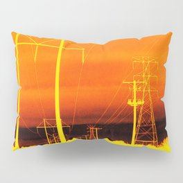 Electric orange Pillow Sham