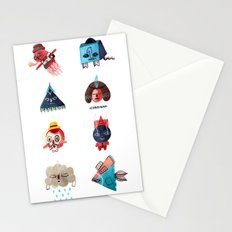 Monster Shapes Stationery Cards