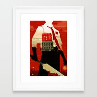 shaun of the dead Framed Art Prints featuring Shaun Of The Dead by Duke Dastardly