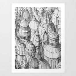 Dome City Art Print