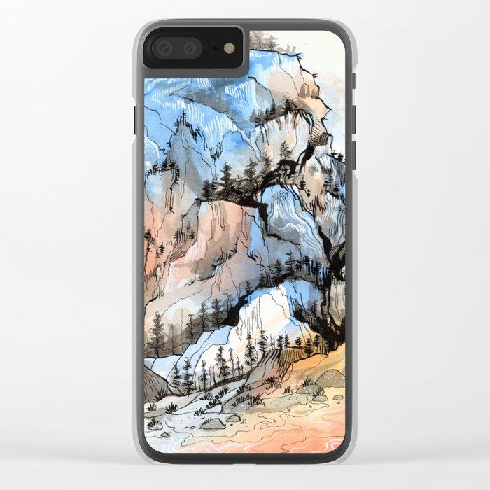 Mountscape Clear iPhone Case