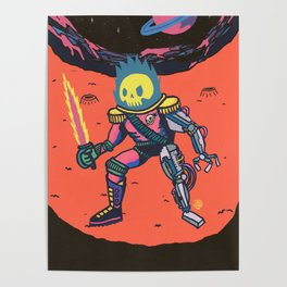 Space Pirate Poster
