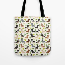 Dachshund cactus southwest dog breed gifts must have doxie dachsies Tote Bag