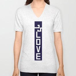 ELOVE - NAVY BLUE Unisex V-Neck