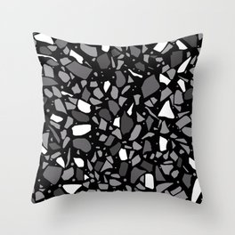 Terrazzo Spot Black 2 Throw Pillow