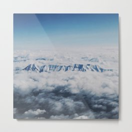 RISING ABOVE THE CLOUDS Metal Print