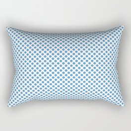 Azure Blue Polka Dots Rectangular Pillow