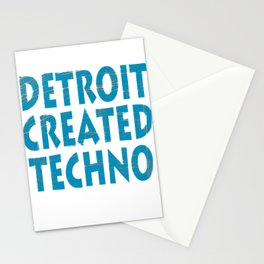 """Detroit Created Techno"" tee design. Home of techno fans like you! Makes an awesome  Stationery Cards"