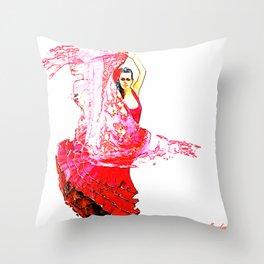 Bailarina Española ( Spanish Dancer ) Throw Pillow