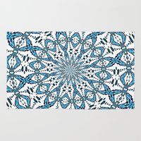 snowflake Area & Throw Rugs featuring Snowflake by Stay Inspired