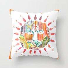 Sun Doodle Throw Pillow