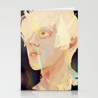 polygon Stationery Cards featuring Albino Polygon by MousMuse
