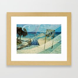 The Red Sea summer vacations Framed Art Print