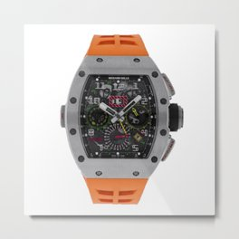 Richard Mille 11-02 Titanium Flyback Chronograph Dual Time Zone 50MM Watch Metal Print