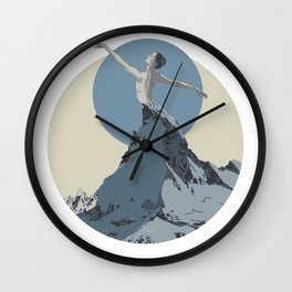 mountains 2 Wall Clock