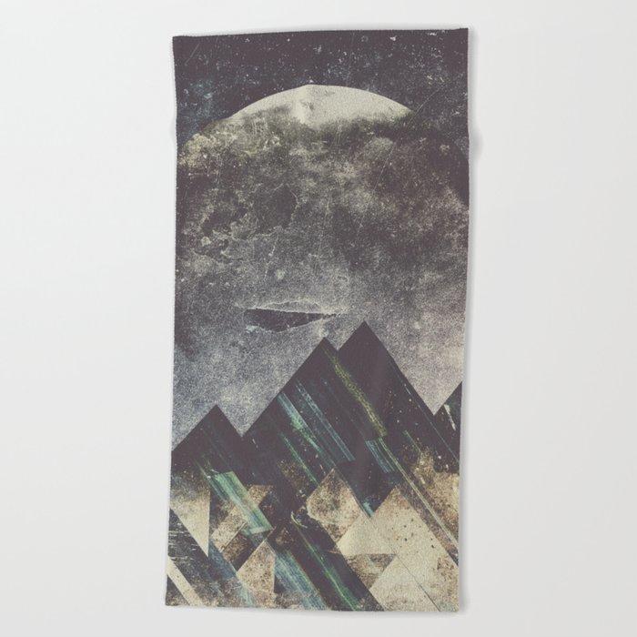 Sweet dreams mountain Beach Towel