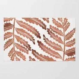 Fern Leaf – Rose Gold Palette Rug