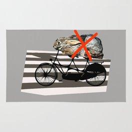 NO RABBITS ON TANDEM BICYCLE Rug